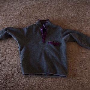 Vintage grey and purple Patagonia Synchilla